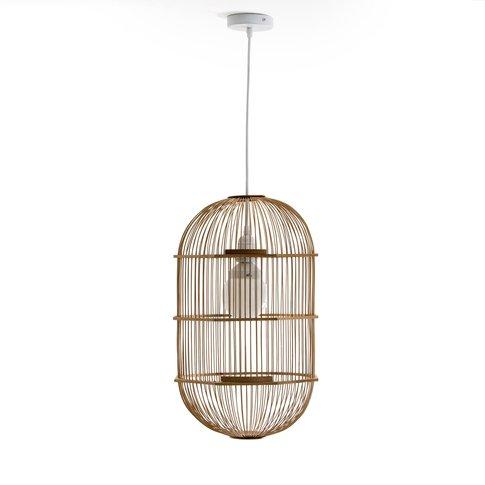 Arapinn Bamboo Birdcage-Style Ceiling Light