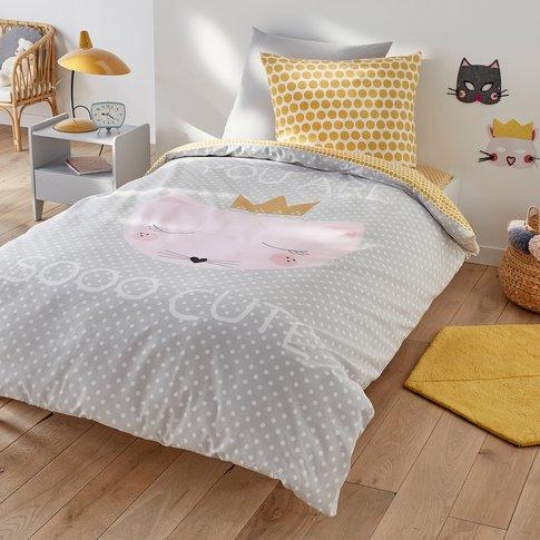 Cute Cat Printed Duvet Cover