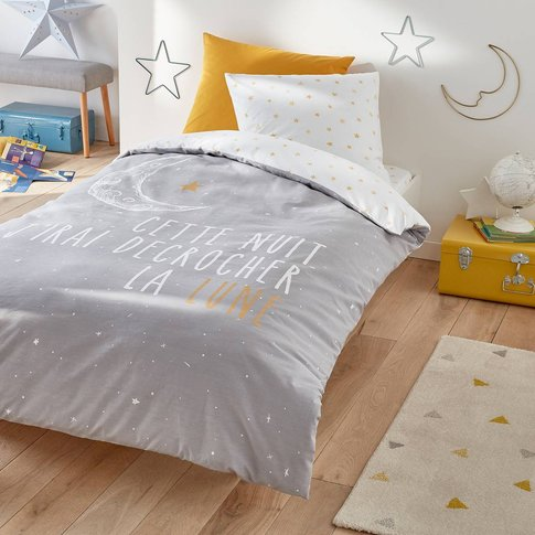 Lune Moon Printed Duvet Cover