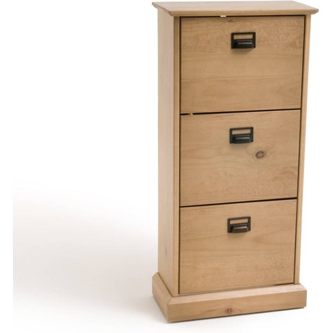 Lindley Shoe Cabinet With 3 Pull-Down Doors