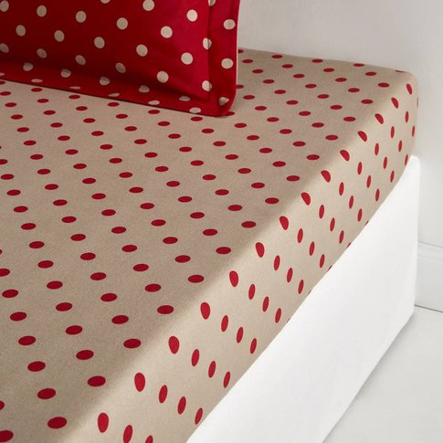 CLARISSE Polka Dot Cotton Flannel Fitted Sheet