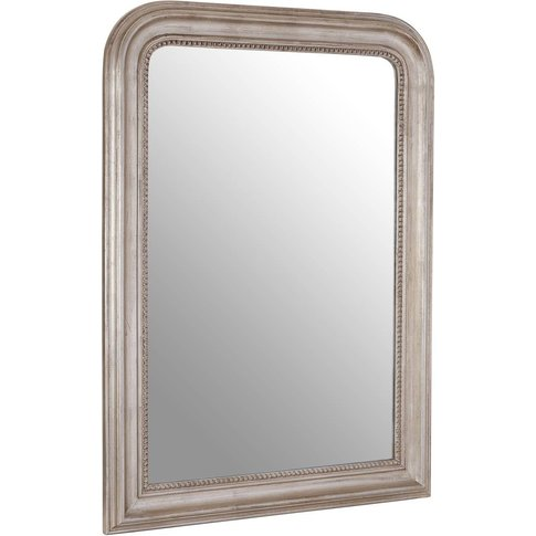 Gaia Wall Mirror, Wood, Silver