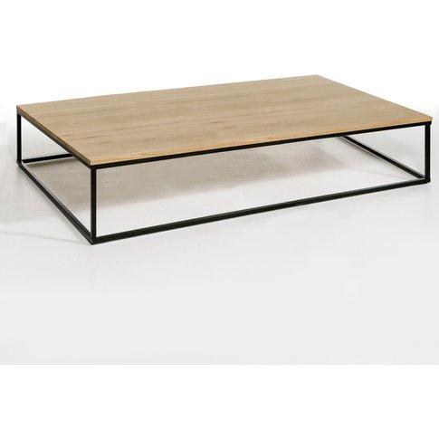 Aranza Oak & Metal Rectangular Coffee Table