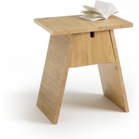 Asayo Solid Oak Bedside Table