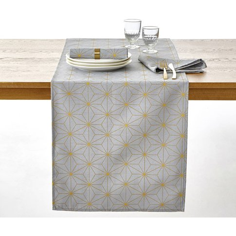 Nordic Star Christmas Table Runner in a Gold-Coloure...