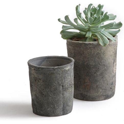 Terro Aged Terracotta Planters (Set Of 2)
