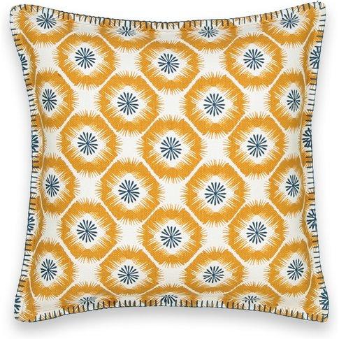 Panama Graphic Starburst Square Cotton Cushion Cover