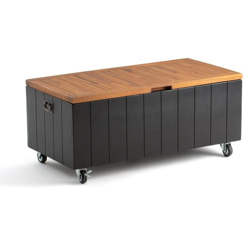 CHESNUT Acacia Outdoor Storage Bench on Wheels with Lid