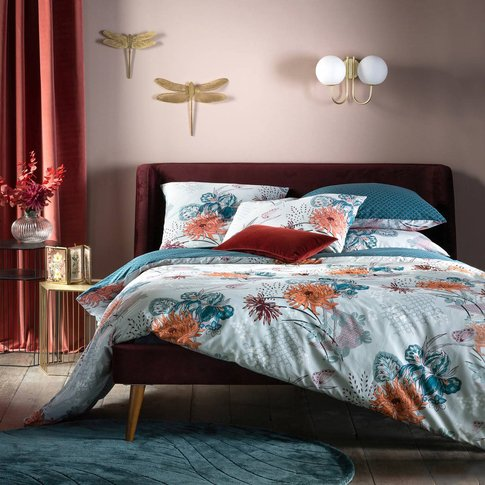 Chinese Flower Percale Duvet Cover