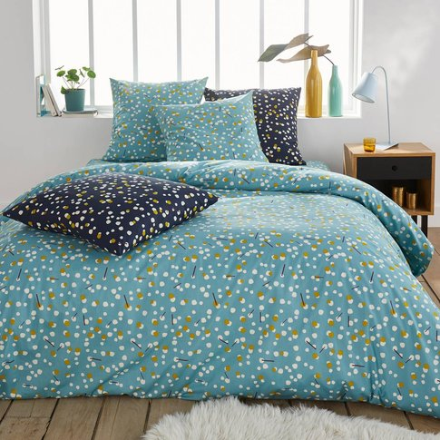 Qanik Pale Blue Printed Duvet Cover