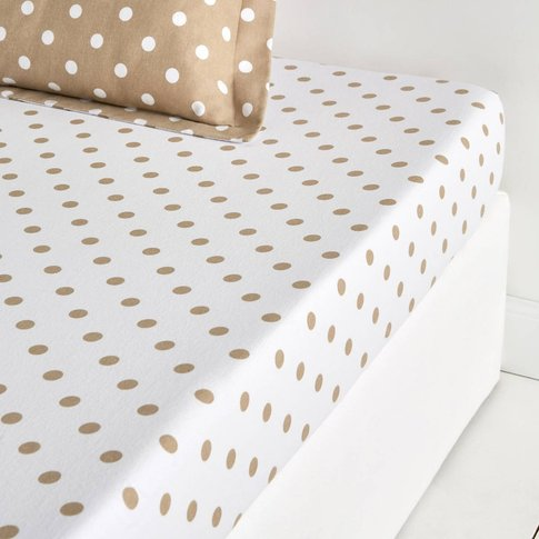Clarisse Polka Dot Cotton Fitted Sheet