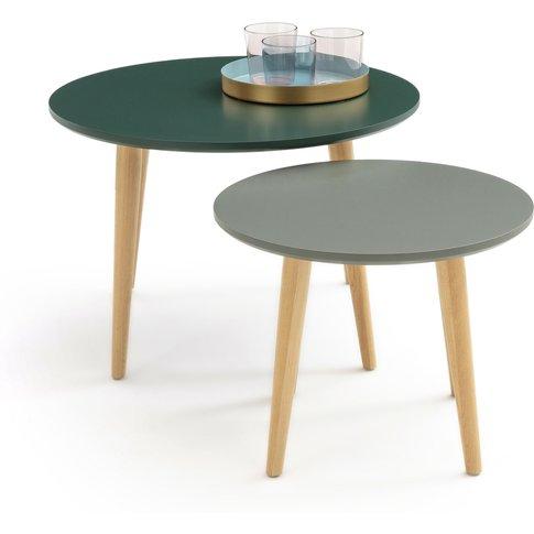 Jimi Retro Birch Semi-Nesting Coffee Tables (Set Of 2)
