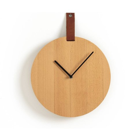 Tamurt Leather & Wood Clock