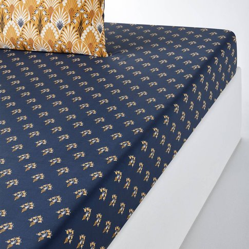 ILARIA Floral Cotton Percale Fitted Sheet