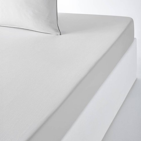 Adrio Plain Cotton Percale Fitted Sheet