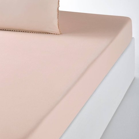 Amey Cotton Percale Fitted Sheet