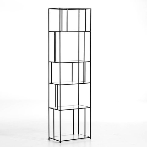Parallel Metal & Glass Bookcase