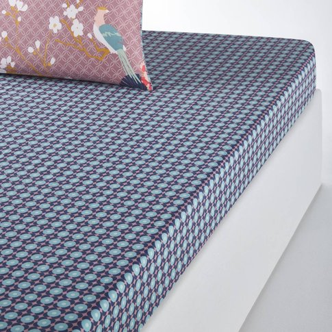 MISS CHINA Tile Print Cotton Fitted Sheet