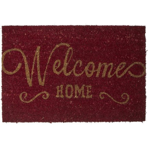 Welcome Natural and Multi-Colour Doormat