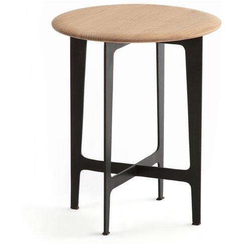 Addisson Side Table In Oak & Metal