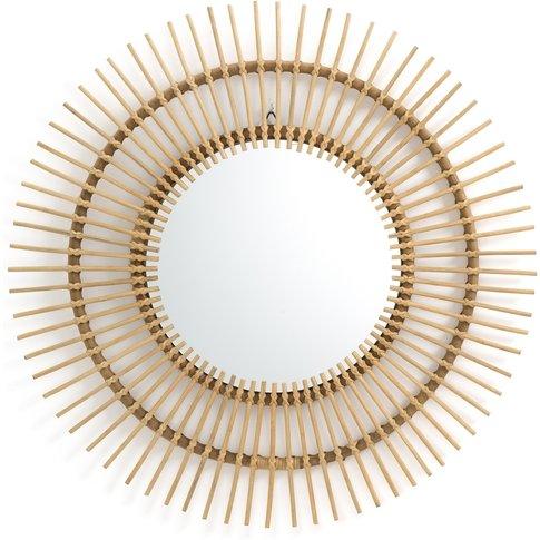 Nogu Cane Sunburst Mirror, 90cm Diameter