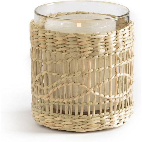 Kézia Wicker And Glass Candle Holder