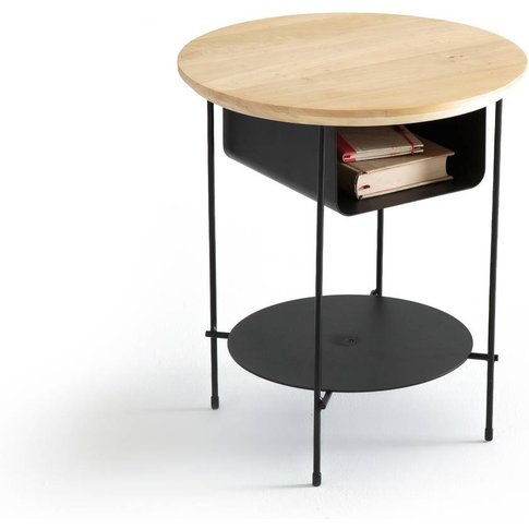 Bangor Wood And Metal Bedside Table