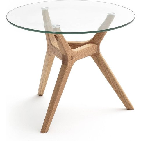 Maricielo Glass And Oak Side Table