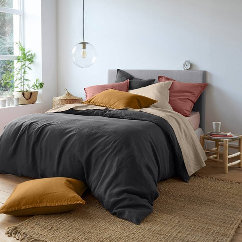 100% Washed Linen Plain Duvet Cover