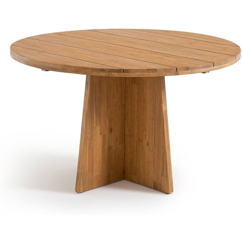 Ajowan Round Outdoor Table In Fsc Acacia