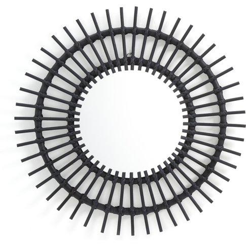 Nogu Black Cane Sunburst Mirror