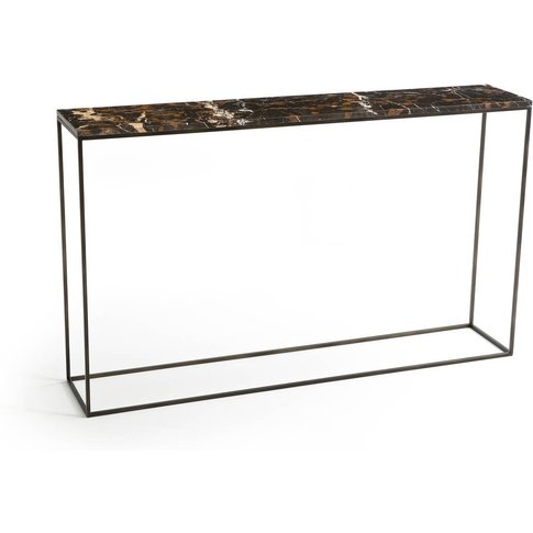 Ambrette Marble & Metal Console Table