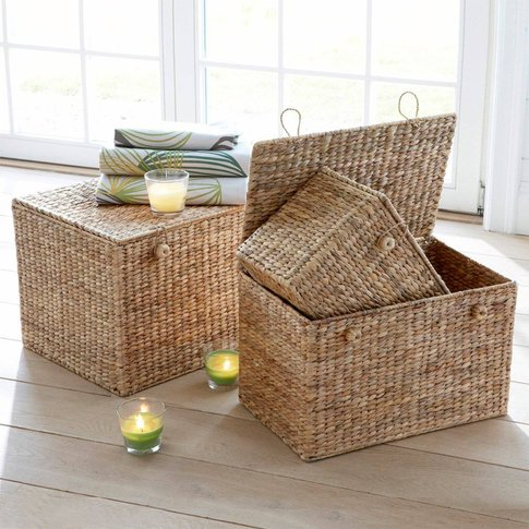 Pack of 3 Semra Seagrass Storage Chests