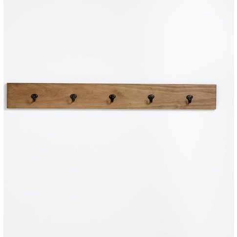 Hiba 5-Kook Pine Coat Rack