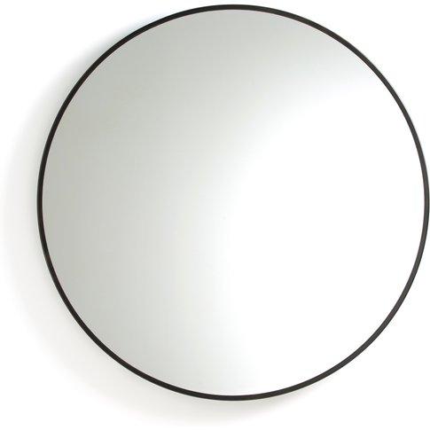 Caligone Gold-Coloured Metal Mirror, Ø80cm
