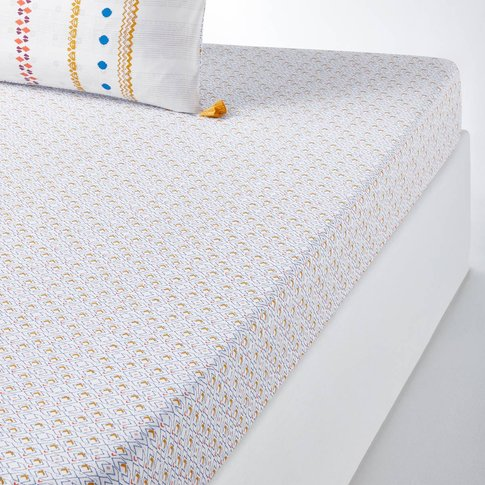 FARNIENTE Tribal-Print Cotton Fitted Sheet