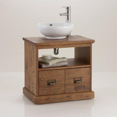 LINDLEY Solid Pine Under-Sink Bathroom Unit