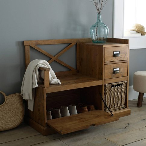 Lindley Hallway Bench In Solid Pine
