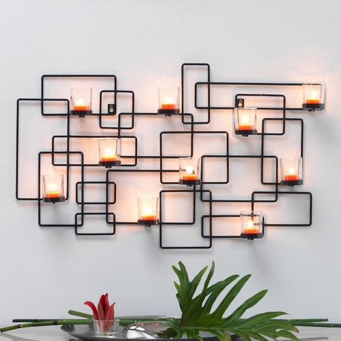 Abina Metal Wall-Mounted Candle Holder