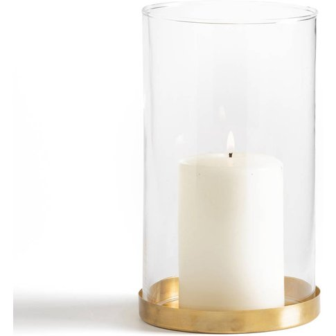 Tanemirte Glass And Brass Candle Holder