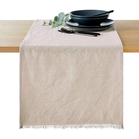 Bello Linen/Cotton Fringed Table Runner