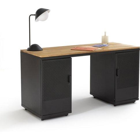 AGAMA Oak and Metal Desk