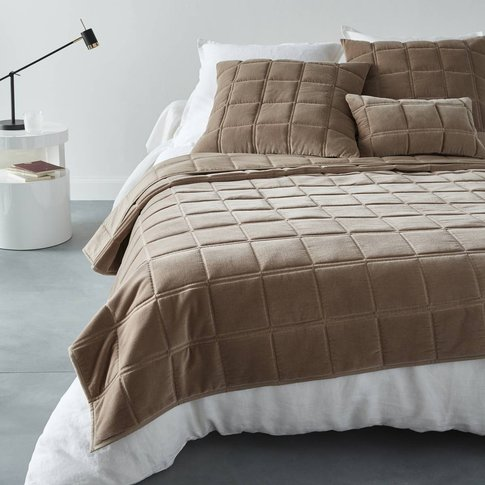 PADOUE Velour Quilted Bedspread.