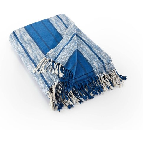 Luana Striped Throw With Fringes
