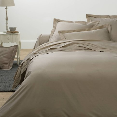 Secret Percale Duvet Cover With Spoke Stitching