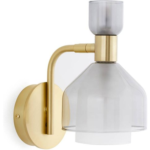 Amoris Wall Lamp In Brass/Smoked Glass