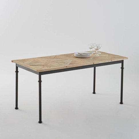 Mosaïque Recycled Pine Dining Table (Seats 6)
