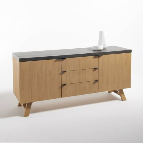 Concrite Sideboard With 2 Doors & 3 Drawers