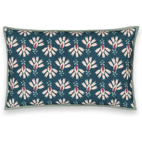 DAYA Floral Washed Cotton Cushion Cover