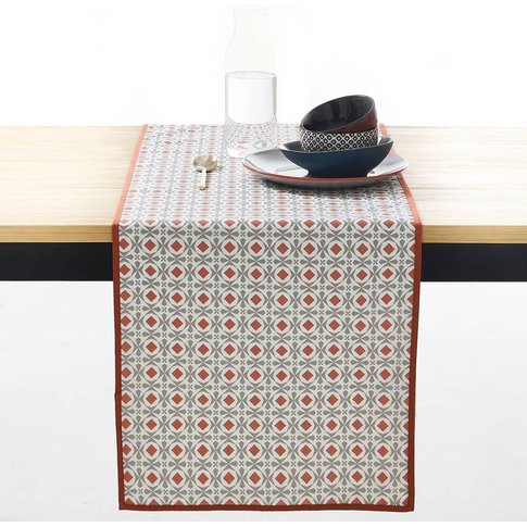 Helia Waterproof Polycotton Table Runner